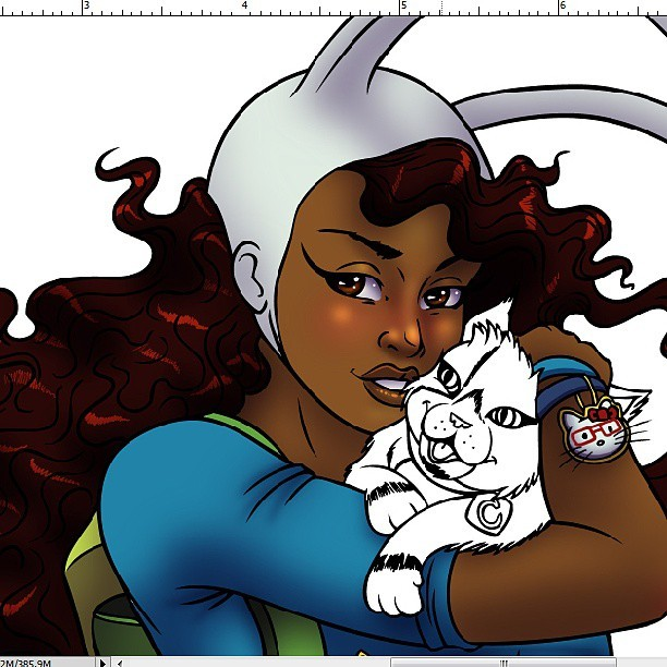 Thought that I was going to have this done by today, but I color so slowly :-/ #adventuretime #art #artofinstagram