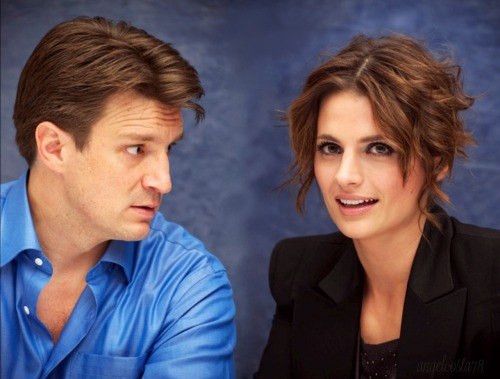 Stana & Nathan - Press Conference 2010