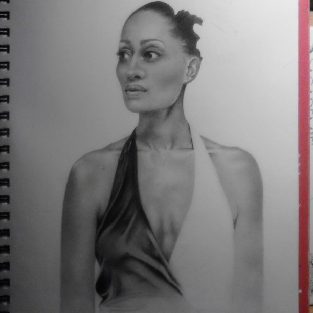 Gonna finish this drawing of Tracee Ellis Ross if it's the last thing I do. Yup. #wip #drawing #art #portrait #traceeellisross