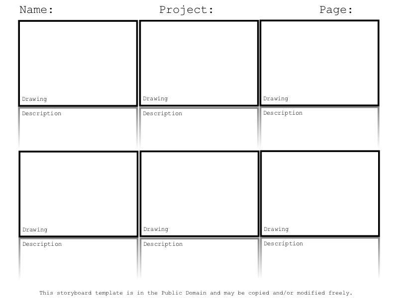 Doing a digital storytelling lesson? Here's a free storyboard template.