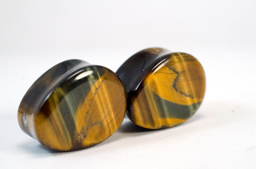 heartonsleevejewelry:  19 mm blue and gold tigers eye