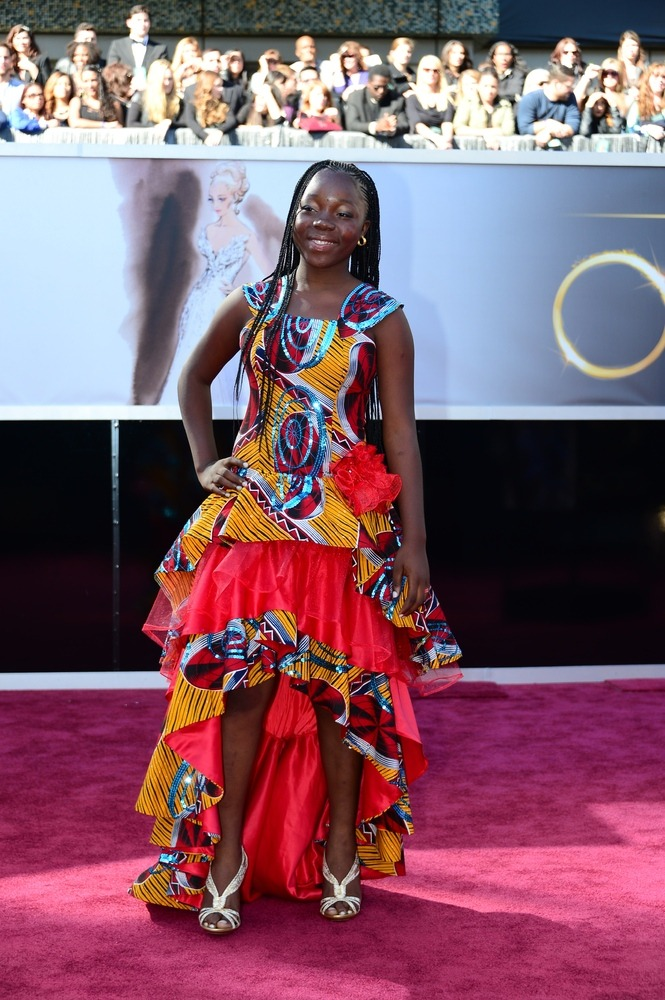 Rachel Mwanza at the 85th annual Oscars.