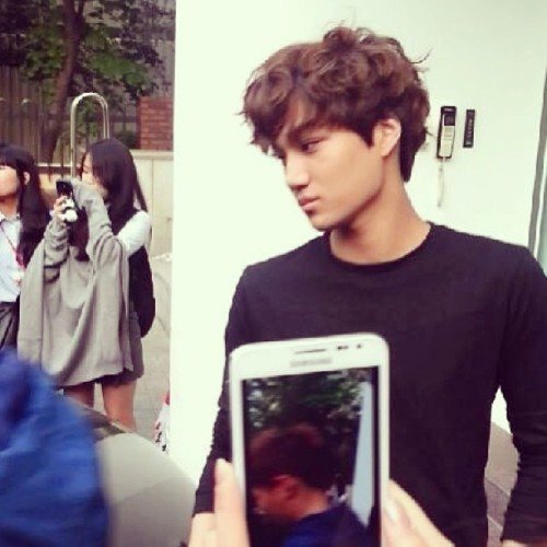 130515 Kai outside SM Building 😋 #Kai #EXO #BFF #EXOtic #EXOK #KPop