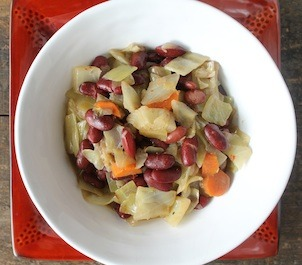 findvegan:  Spiced Cabbage & Red Kidney Beans with Coconut Milk  Mmm