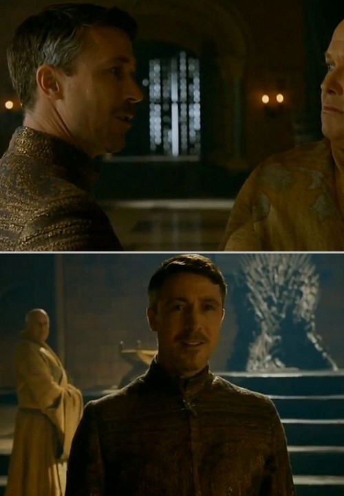 avisionofyou:  Petyr Baelish, Varys, and the Iron Throne.