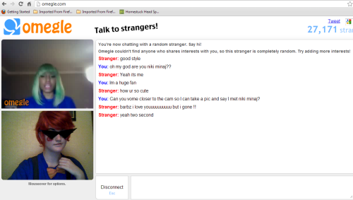 literallykarkat:  nep-to-the-dubstep:  I JUST MET NIKI MINAJ WHILE ON OMEGLE DRESSED AS TRICKSTER DIRK????!!!  WHAT