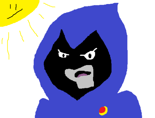 And then someone convinced me to draw Raven. Disappointed sun returns for the sequel. Raven joins in on the disappointment.