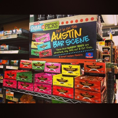 NOICE seeing our friends @ThunderbirdBar getting some HEB Primo Picks LUV. #GoTexan #EatThunder #RideLightning #RealFood #ATX  #squaready