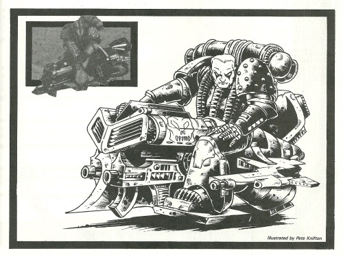 Interior illo from White Dwarf 96, December 1987. Pete Knifton, 1987.