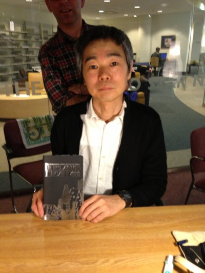 suffervacation:  Taiyo Matsumoto with a copy of The Inflated Head Zone!! Get a copy here: http://suffervacation.storenvy.com