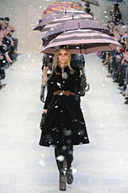 Vogue loves umbrellas Picture credit: GoRunway
