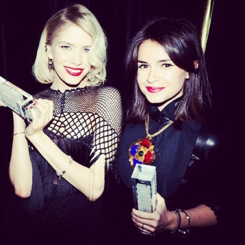 "Miroslava Duma wearing Richard Noura ""Charles"" necklace ❤"