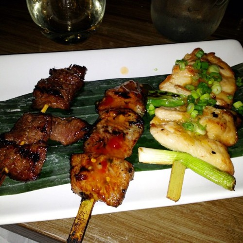 Hooray for grilled meats! #robata #yuzu #chicagofood   (at Yuzu Sushi and Robata Grill)