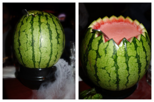 Watermelon cocktail soju @Tonight