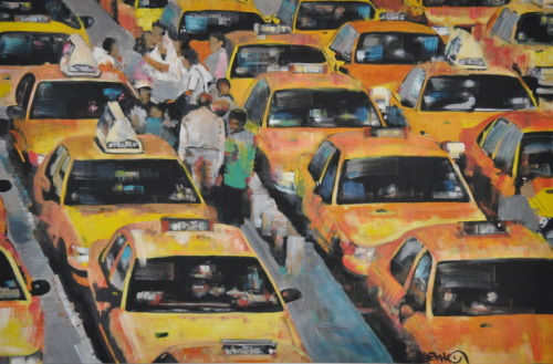 darksilenceinsuburbia:  Stephanie Fonteyn. New York Taxi Jam, 2011.