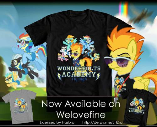 tsitra360:  Now available on WeLoveFine. Officially licensed and approved by Hasbro. Shirt:http://www.welovefine.com/4475-wonder-academy-sky-high.html Wonderbolts Academy_Tee by =Tsitra360