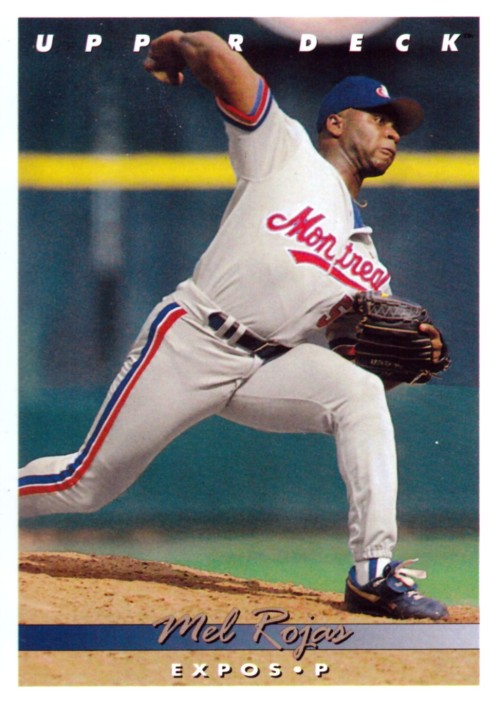 Random Baseball Card #2326: Mel Rojas, pitcher, Montreal Expos, 1993, Upper Deck.