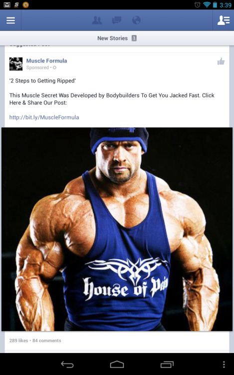 Anabolic steroids, now available on Facebook.