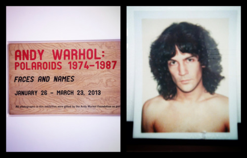 Beautiful Billy Squire at the Andy Warhol: Polaroids exhibit.