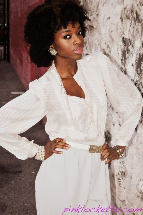 blackfashion:  Outfit: Thrift Pam, NY Photographed by Pinklockette.com  Awesome Vintage Outfit