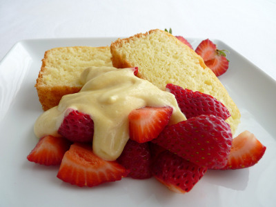 Yogurt Cake with Strawberries & Zabaglione by pastrystudio on Flickr.