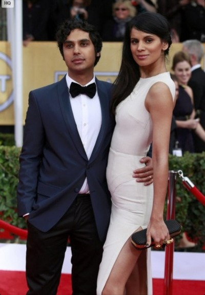shamyfan:  Kunal Nayyar and wife. Sag awards