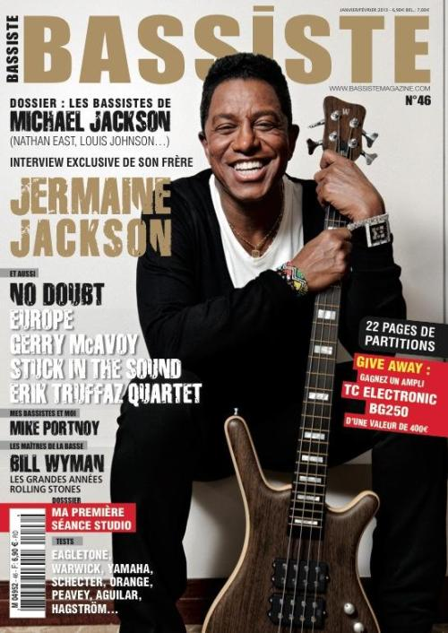 Jermaine is on the cover of French Bassiste Magazine! The January/February issue has a feature on the many bassist players who contributed to Michael's career from the early J5 days until his untimely death. Jermaine is one underestimated bassist player and did an interview with Bassiste Magazine about his memories and collaborations with huge artists.
