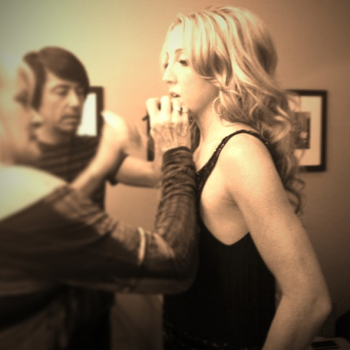 "Hippie Annie getting ready for the Tonight Show with Jay Leno ;) Tune in tonight at 11:35/10:35c to watch the Pistol Annies perform!  p.s. don't forget to get my new album ""Like A Rose"" for only $6.99 on iTunes (limited time!)."