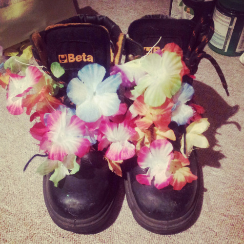 The flowers have once again long since perished but I reflowered my shoes