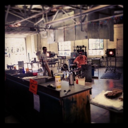 Glass blowing demonstration this morning.