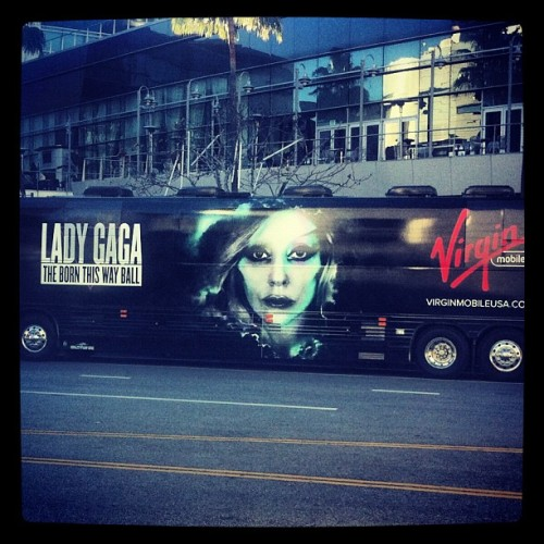 At staples! #ladygaga #gaga #monster