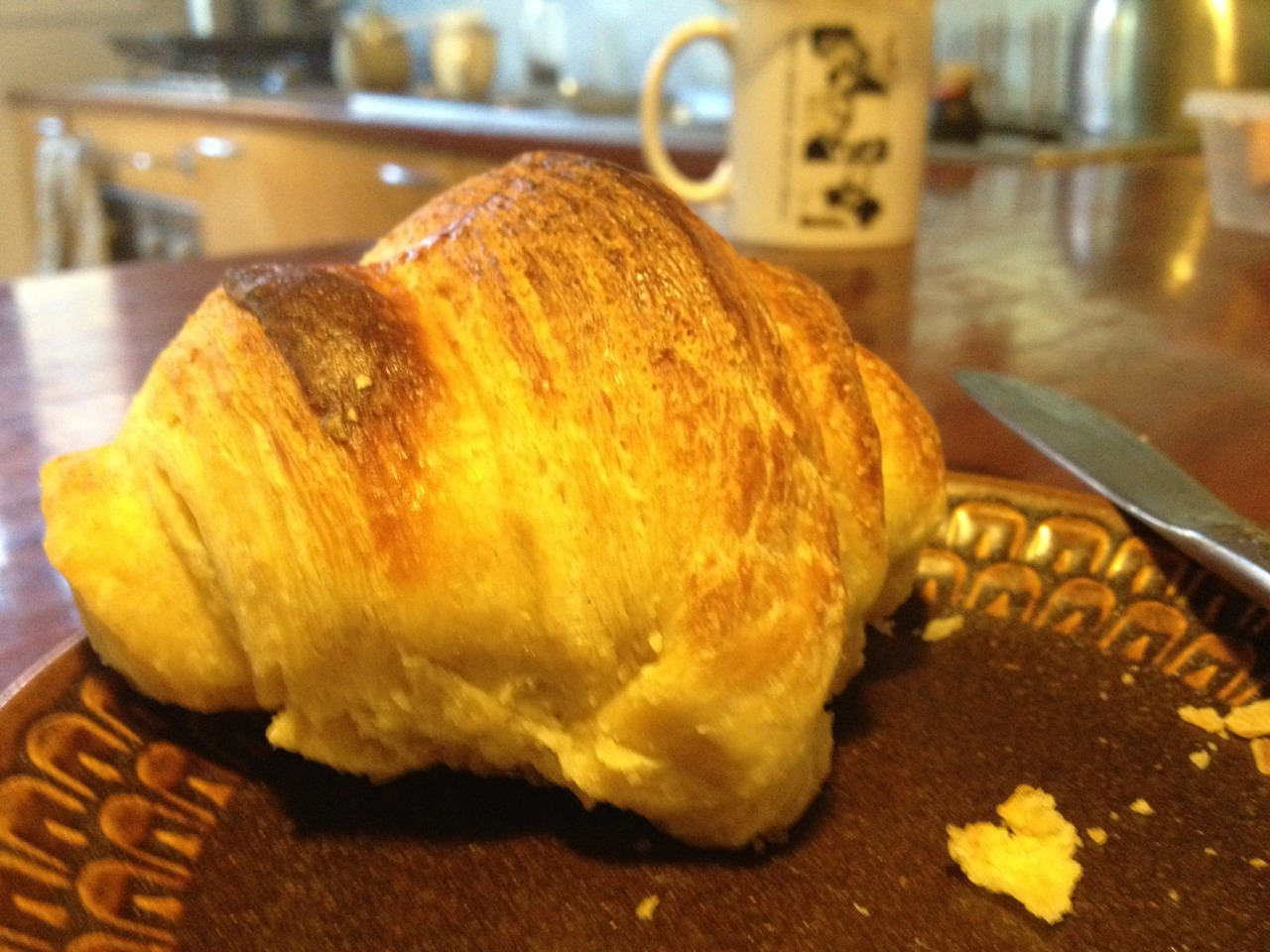 Biggest downside of making croissants at home is how difficult they are not to eat.