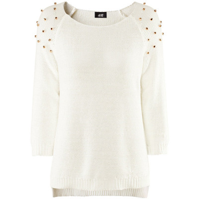 H M sweater   ❤ liked on Polyvore (see more cotton shirts)