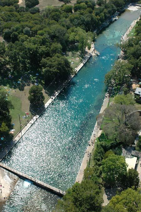 resite-festival:  A natural swimming pool in downtown Austin. Can't wait for summer?