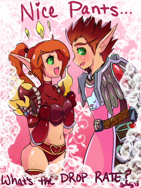 azshura:  spindy:  Valentine's card for my buddies Az and Scruffle. ^-^; I like this one a lot, so it's going on the WoW tag. /cringes in fear Hell, I'll spam tags. Hope you guys like it! c:  OH MY FUCKING GOD!!! THANK YOU THANK YOU THANK YOUU OHMYGOD I LOVE ITTTT <3333333333333333333333333333333333  gonna reblog this on wfp too because i can
