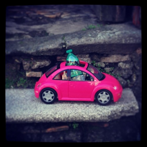 faithanddevotion:  Just weird stuff #mini #barbie #weird #pink