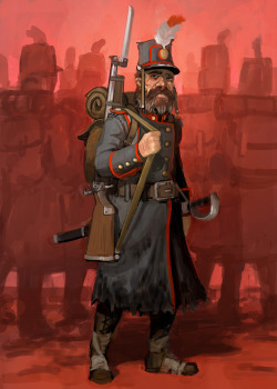 infantry illustration for upcoming game Battle for York