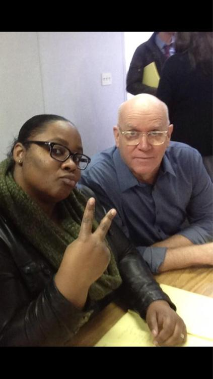 "@CM_SetReport: Writers Bruce Zimmerman and @iKimHarrison at the #CriminalMinds 8x15 ""All That Remains"" read-thru."