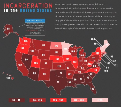mapsontheweb:  Incarceration in the U.S.  Damn.