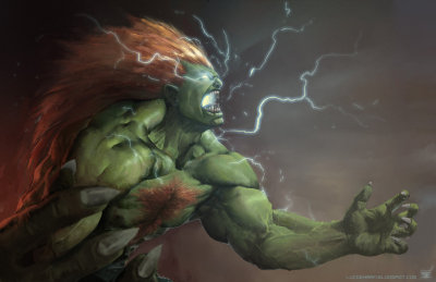 Street fighter: Blanka by ~Omuk Badass Blanka