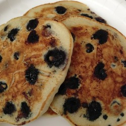 My #mother made me #BlueberryPancakes #blueberry #pancakes for #breakfast because I wasn't #feeling #well #love her 🍴😊💙