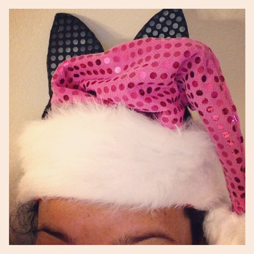 Modified my pink Santa hat to give it some Kitty swag!! 😻❤😽 #love #TagsForLikes #instagood #tweegram #photooftheday #iphonesia #instamood #me #cute #igers #picoftheday #iphoneonly #instagramhub #summer #tbt #girl #instadaily #jj #beautiful #bestoftheday #sky #food #webstagram #picstitch #nofilter #fashion #food #happy #sun #instagramers