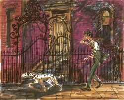 disney 101 Dalmatians visual development Roger Radcliffe Pongo One Hundred and One Dalmatians animation process ken anderson