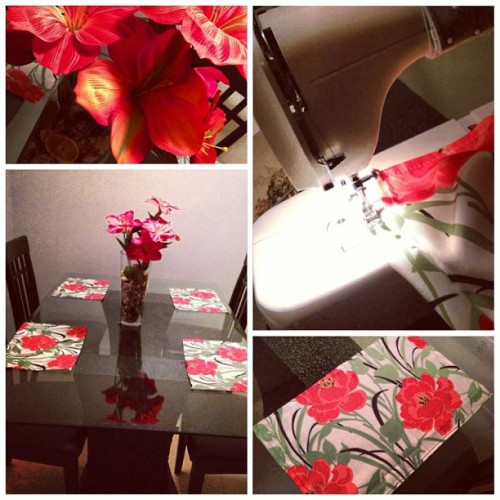 Tested out my new #sewingmachine and made some cute #placemats for my #dinningtable 😊 #necchi #necchilydia3