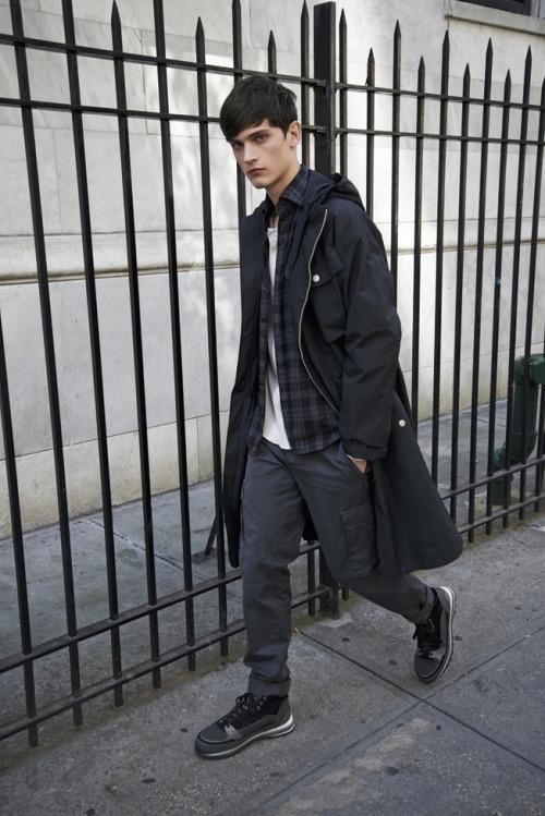Overcoat+Cargo Pants