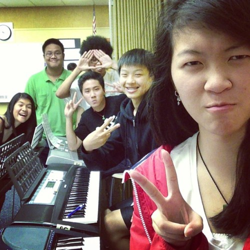 Last Monday in Piano class with these people! #pianoclassfun @mrnguuyen @khoifishy @banksh0ttt @schwirley