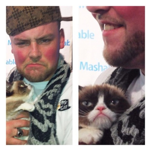 mtv:  Scumbag Steve, Grumpy Cat, and @MrGif all in one photo means the Internet has just exploded all over #SXSW.