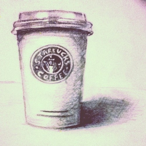 Starbucks coffee cup for art research ~___~
