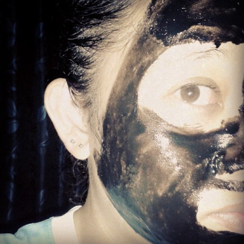 #BlackFaceMask #RandomPost #LOL #Now yup.. a time to pampered myself.. after a long five days.. ♥
