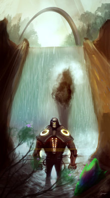 Waterfall by *Fenris31 —-x—- More: | Robots | Random |